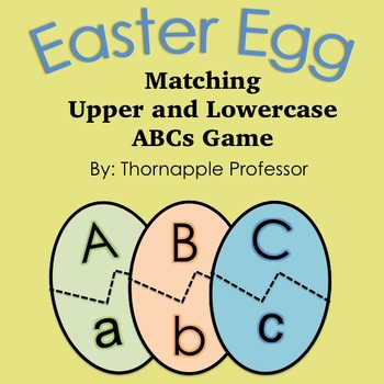 Easter FREE letters matching game