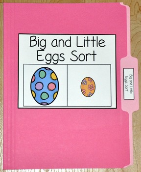"Easter File Folder Game--""Big and Little Eggs Sort"""