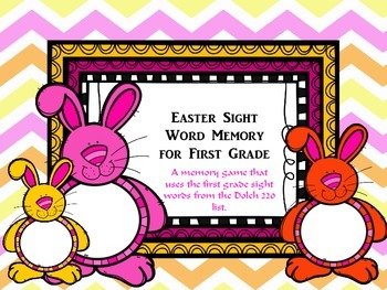 Easter First Grade Sight Word Memory