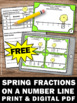 FREE Easter Math Fractions on a Number Line Task Cards Gam