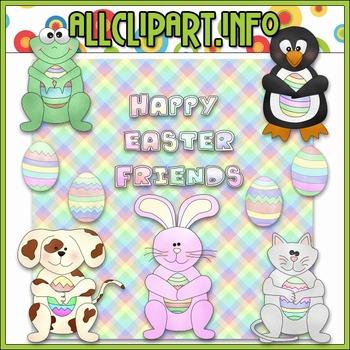 $1.00 BARGAIN BIN - Easter Friends Clip Art