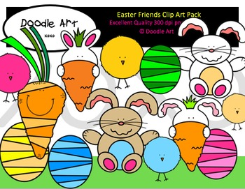 Easter Friends Clipart Pack