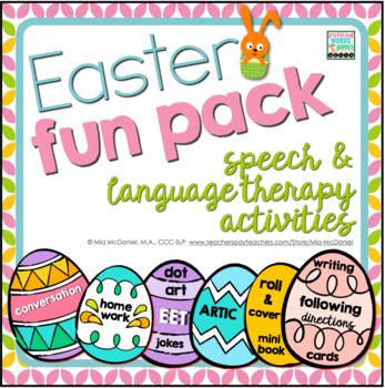 Easter Fun Pack {for speech/language therapy or classroom fun!}