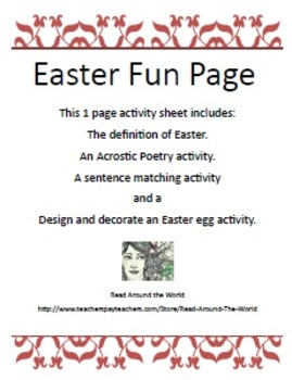 Easter Fun Page