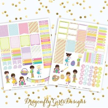 Easter Fun Printable Planner Stickers Mini Kit