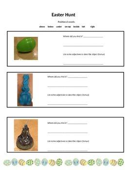 Math - Positional Words Easter Hunt