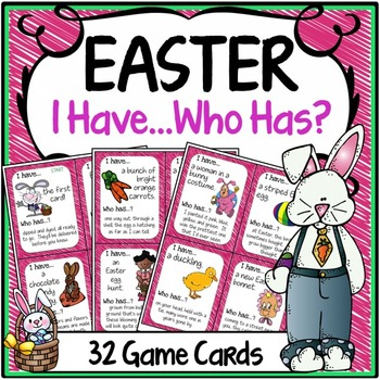 Easter Activities {Speaking & Listening I Have, Who Has Game}