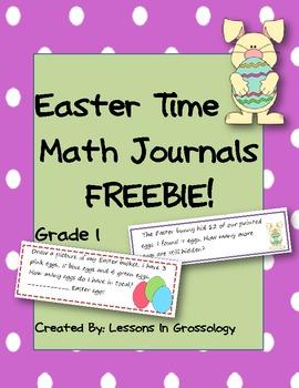 Easter Interactive Math Journals- FREEBIE! 1st Grade