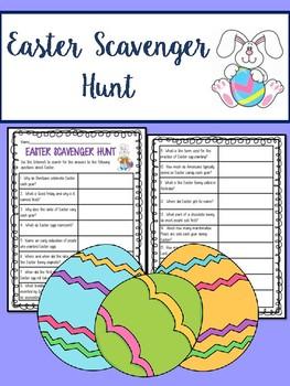 Easter Internet Scavenger Hunt