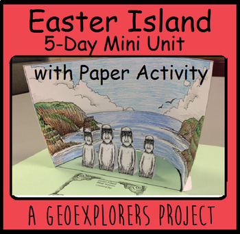 Easter Island history unit with reading, writing, and math