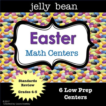Easter Jelly Bean Math Learning Centers Grades 3-5