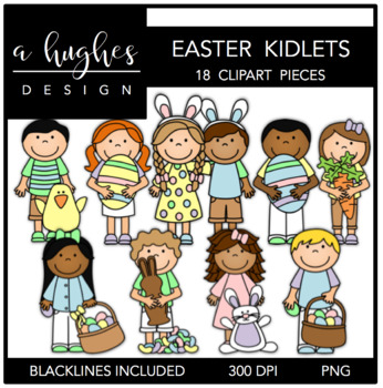 Easter Kidlets {Graphics for Commercial Use}