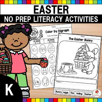 Easter Kindergarten Literacy Worksheets (Common Core Aligned)