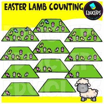 Easter Lambs Counting Clip Art Bundle  {Educlips Clipart}