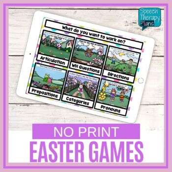 No Print Easter Language & Articulation Games