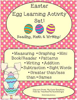 Easter Learning Activity Set Reading Math Writing