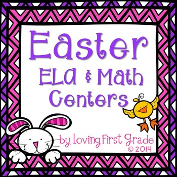 Easter Pack-10 Literacy & Math Centers
