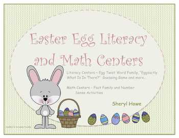 Easter Literacy and Math Centers: Word Families, Number Se