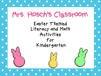 Easter Literacy and Math Pack for Kindergarten