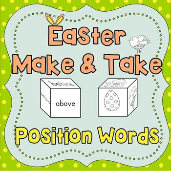 SALE! Easter Make and Take - Position Words