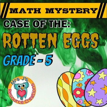 Easter Math Activity:  Math Mystery - Case of The Rotten E