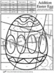 Easter Math Fact Coloring Sheets