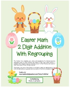 """""""Easter Math"""" 2 Digit Addition With Regrouping - Common Co"""