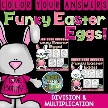 Color By Code Funky Easter Eggs Math Multiplication and Di