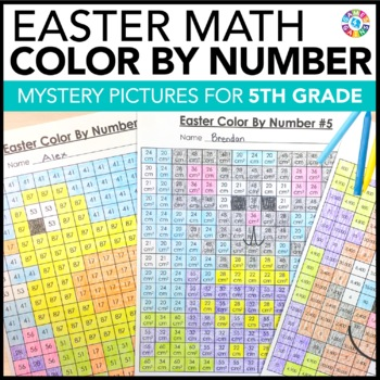 *5th Grade Easter Activities: 5th Grade Easter Math (Color