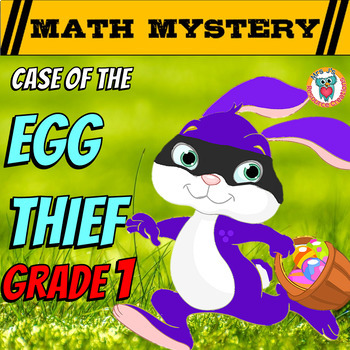 Easter Math Mystery Activity: Place Value, Numbers, Additi