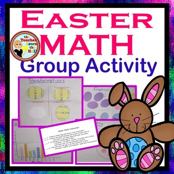Easter Math Activities - Fractions, Geometry, and Graphing!