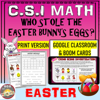 Easter Math Activity: Easter CSI Math - Who Stole The East