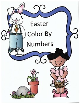 Easter Math Addition Color By Numbers