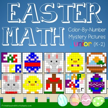 Easter Math Color-By-Number Bundle (K-2)