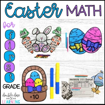 Easter Math Craftivities for First Grade {Equations, Numbe