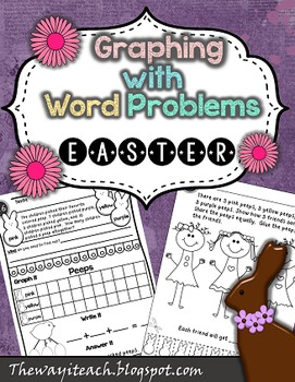 Easter Math: {Graphing, Word Problems, Adding 2 and 3 adde