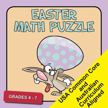 Easter Math Puzzle - Fractions - Grades 4-7