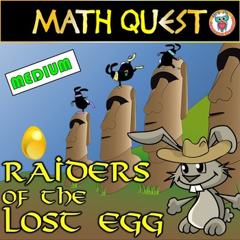Easter Math Quest Activity: Raiders of The Lost Egg (MEDIU