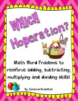 Easter Math Word Problems (Basic Operations, Add, Subtract