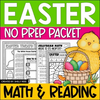 Easter Math and ELA Bundle - Informational Text, Graphing,