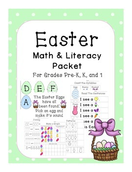 Easter Math and Literacy Packet