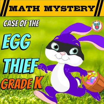 Easter Activity (Math Mystery) - Case of The Egg Thief (Ki