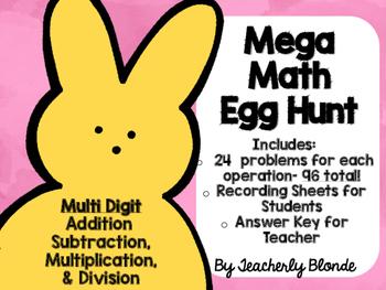 Easter Mega Math Egg Hunt