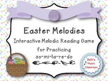 Easter Melodies - Interactive Melodic Reading Game, Pentat
