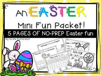 Easter Mini Fun Packet ~ NO PREP