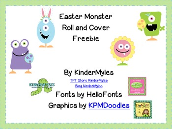 Easter Monster Freebie