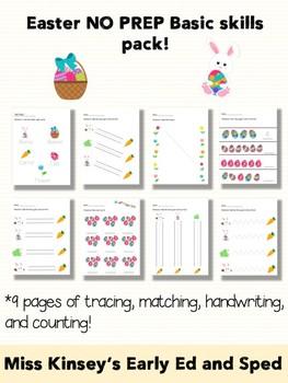 Easter NO PREP Pack tracing/handwriting/matching!