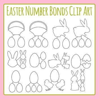 Easter Number Bond Template Clip Art Set for Commercial Use