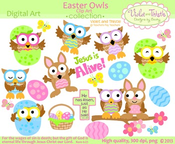 Easter Owls Clipart Easter Clip Art