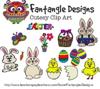 Easter Clipart Pack (Fantangle Designs Digital Clipart)